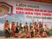 越南广义举行2012年第一次少数民族锣钲节