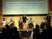 日本越南青年学生协会举行慈善音乐会