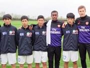 越南四名球员赴阿森纳俱乐部进行培训