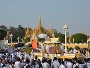 太皇西哈努克送葬仪式在柬埔寨举行