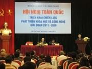 越南积极展开2011-2020年阶段科学技术发展战略