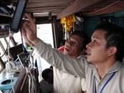 越南宁顺省安装渔船卫星定位设备