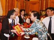 阮氏缘副主席会见永福省长老和酋长