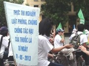 越南积极响应世界无烟日