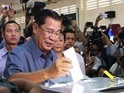 柬埔寨执政党人民党宣布在第五届国会选举中获胜