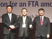 日中韩国自贸区第二轮谈判开启