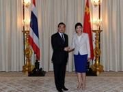 泰国总理英拉会见来访的中国外长王毅
