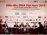 5年来越南企业并购总价值增加四倍