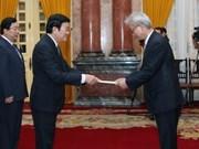 越南国家主席张晋创接受外国新任驻越大使递交国书