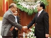 越南政府副总理黄中海会见日本客人