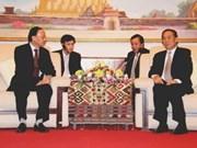 越共中央组织部高级代表团访问老挝