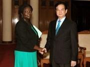 阮晋勇总理会见世行驻越首席代表