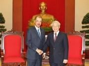 越共中央总书记阮富仲会见塞舌尔共和国总统詹姆斯