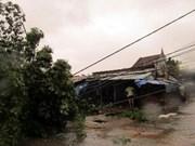 越南中部各省遭第十号台风来袭 经济损失可达近5万亿越盾
