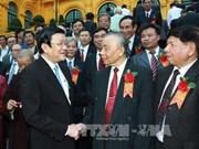 张晋创主席会见越南助学协会代表