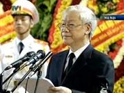武元甲大将吊唁仪式在国家殡仪馆隆重举行