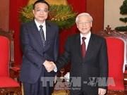 阮富仲总书记会见中国国务院总理李克强