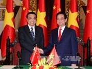 大力促进越中经贸合作关系