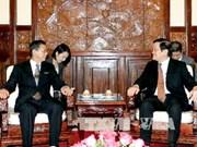 越南国家主席张晋创接受六国新任驻越大使递交国书