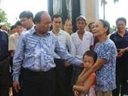 阮春福副总理指导十一号台风抢险救灾工作