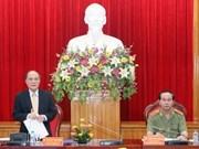 国会主席阮生雄与中央公安党委举行工作会议