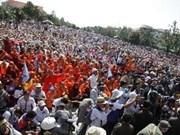 柬埔寨反对党救国党开始为期3天的游行示威活动