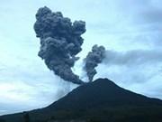 印尼锡纳朋火山再喷发