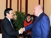 张晋创主席会见俄罗斯总统国际文化合作特使