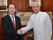 越南与印度进一步深化传统友谊和全面合作关系