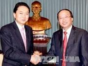 苏辉锐同志会见前日本首相