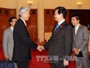 越南政府总理阮晋勇会见日本工商会代表团