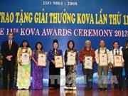 越南4个集体和12个人荣获越南妇联柯瓦奖