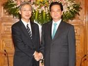 阮晋勇总理会见日本共同社社长