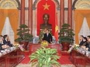 张晋创主席会见中东-北非地区各国代表团团长