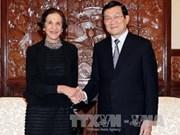 越南国家主席会见来访的澳大利亚客人