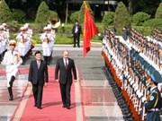 张晋创主席为俄罗斯联邦总统普京举行欢迎仪式