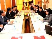 越通社高级代表团访问老挝