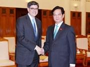 越南政府总理阮晋勇会见美国财政部长