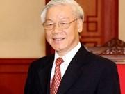 印度总理为越共中央总书记阮富仲举行隆重欢迎仪式