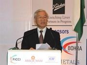 阮富仲总书记:越南欢迎印度投资商赴越投资