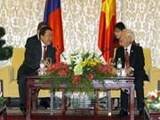 胡志明市领导人会见蒙古国总统一行