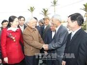 阮富仲总书记视察太平省
