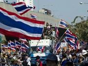 泰国大选临近 反对派继续举行示威活动