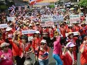 泰国反对党民主党要求取消大选结果