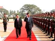 柬埔寨首相洪森对老挝进行正式访问