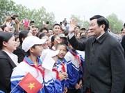 越南国家主席张晋创莅临清化省调研指导工作