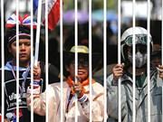 数千名泰国农民前往曼谷要求政府支付所欠稻农款项