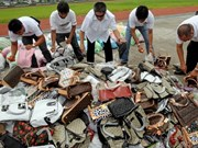 菲律宾海关局大量走私大米和假冒品