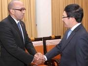 范平明府总理分别会见古印两国驻越南大使