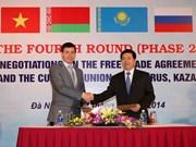 越南与俄白哈关税同盟自贸协定第四轮谈判圆满结束